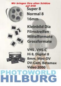 Digitalisierung von VHS VHSc Super 8 usw...